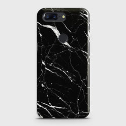 OnePlus 5T Trendy Black Marble design Case