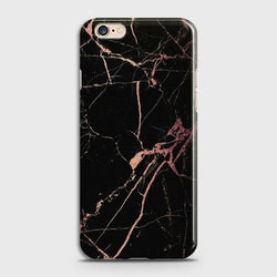 OPPO A57 Black Rose Gold Marble Case