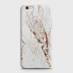 OPPO A57 White & Gold Marble Case