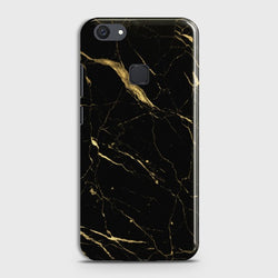 Vivo V7 Plus Classic Golden Black Marble Case