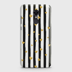 XIAOMI REDMI 5 Glitter Heart Stripes Case