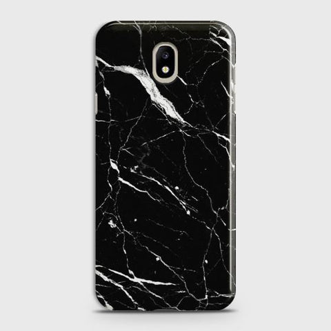 Samsung Galaxy J7 2017 Trendy Black Marble design Case