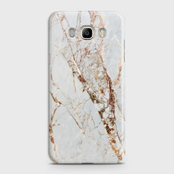 SAMSUNG GALAXY J7 (2016) White & Gold Marble Case