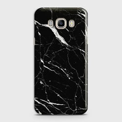 Samsung Galaxy J7 2016 Trendy Black Marble design Case