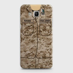 SAMSUNG GALAXY J3 2016 (J320) Army Costume With Custom Name case