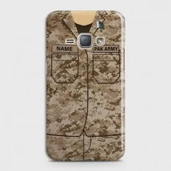 SAMSUNG GALAXY J1 2016 (J120) Army Costume WIith Custom Name Case