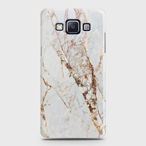 SAMSUNG GALAXY E5 White & Gold Marble Case