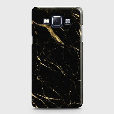 Galaxy A7 2015 (A700) Classic Golden Black Marble Case