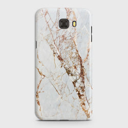 SAMSUNG GALAXY C7 White & Gold Marble Case