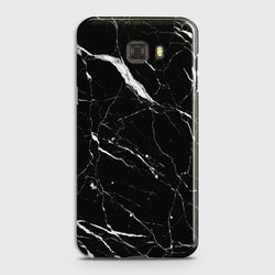 Samsung Galaxy C7 Trendy Black Marble design Case