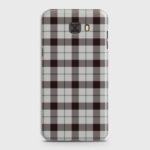 SAMSUNG GALAXY C7 PRO Check Pattern White Case
