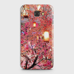 SAMSUNG GALAXY C7 PRO Pink blossoms Lanterns Case