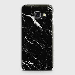 Samsung Galaxy A7 2016 Trendy Black Marble design Case