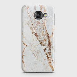 SAMSUNG GALAXY A3 2016 (A310) White & Gold Marble Case