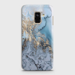 SAMSUNG GALAXY A8+ (2018) Golden Blue Marble Case
