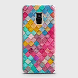 SAMSUNG GALAXY A8+ (2018) Colorful Mermaid Scales Case