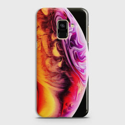 SAMSUNG GALAXY A8+ (2018) Texture Colorful Moon Case