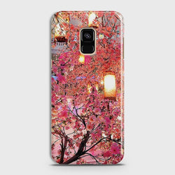 SAMSUNG GALAXY A8+ (2018) Pink blossoms Lanterns Case