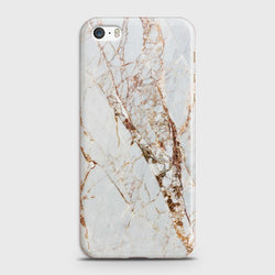 IPHONE 5/5C/5S White & Gold Marble Case