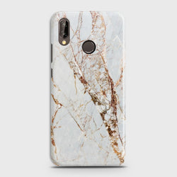 HUAWEI P20 LITE White & Gold Marble Case