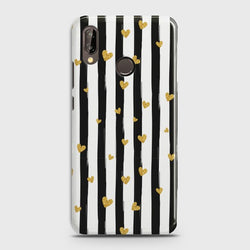HUAWEI P20 LITE Glitter Heart Stripes  Case
