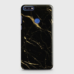 HUAWEI HONOR 7C Classic Golden Black Marble Case