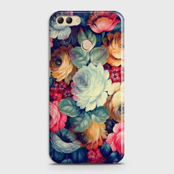 HUAWEI Y9 (2018) MONEY Vintage Colorful Flowers Case