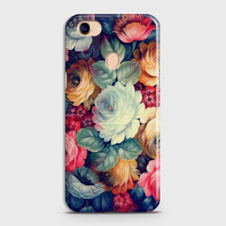 OPPO F7 Vintage Colorful Flowers Case