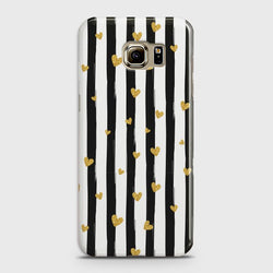 SAMSUNG GALAXY S6 Glitter Heart Stripes Case