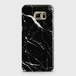 Samsung Galaxy S6 Edge Plus Trendy Black Marble design Case