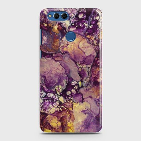 HUAWEI HONOR 7X Purple Agate Marble Case