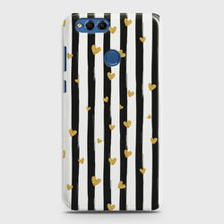HUAWEI HONOR 7X Glitter Heart Stripes Case