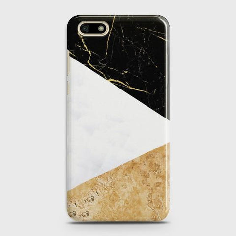 HUAWEI Y5 PRIME 2018 Gold Marble collage Case