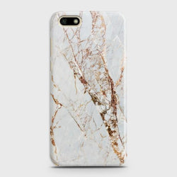 HUAWEI Y5 PRIME 2018 White & Gold Marble Case