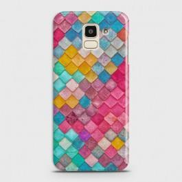 SAMSUNG GALAXY J6 (2018) Colorful Mermaid Scales Case