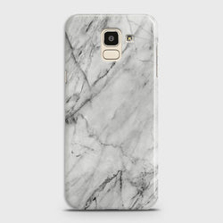 SAMSUNG GALAXY J6 (2018) Realistic White Marble Case