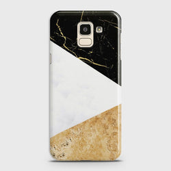 SAMSUNG GALAXY J6 (2018) Gold Marble collage Case