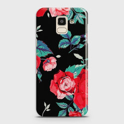 SAMSUNG GALAXY J6 (2018) Vintage Red Flowers Case