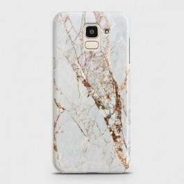 SAMSUNG GALAXY J6 (2018) White & Gold Marble Case