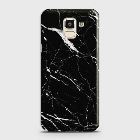 Samsung Galaxy J6 2018 Trendy Black Marble design Case