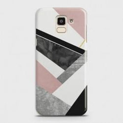 SAMSUNG GALAXY J6 (2018) Geometric Luxe Marble Case