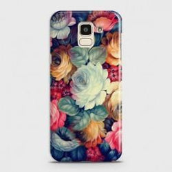 SAMSUNG GALAXY J6 (2018) Vintage Colorful Flowers Case