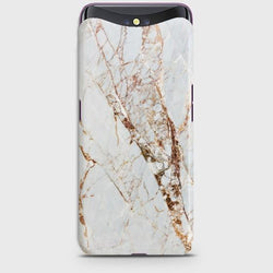 OPPO FIND X White & Gold Marble Case