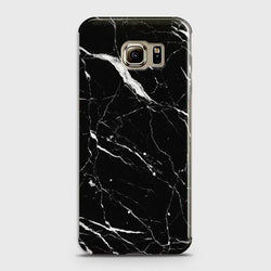 Samsung Galaxy S6 Edge Trendy Black Marble design Case