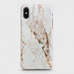 IPHONE XS MAX White & Gold Marble Case