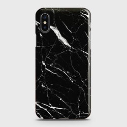 IPHONE XS Max Luxury Black Marble design Case
