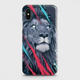 IPHONE XS MAX Abstract Animated Lion Case