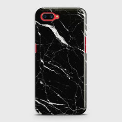 OPPO A5 Trendy Black Marble Case