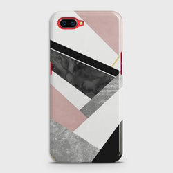 OPPO A5 Geometric Luxe Marble Case