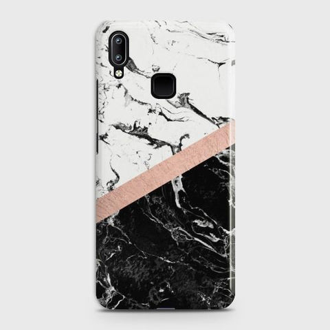 VIVO V11 Black & White Marble With Chic RoseGold Case